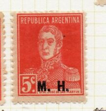 Argentina 1923 Early Official MH Optd Issue Fine Mint Hinged 5c. 188352