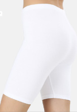 Zenana  Outfitters Premium Stretch Cotton Longer Length Bike Shorts 2X  White