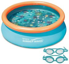 7 Ft Inflatable Family Swimming Pool 3D Goggles Water Play Kid Adult Outdoor Fun