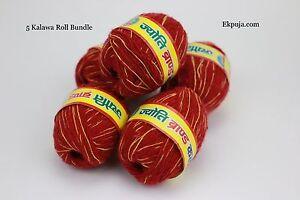 Sacred Red Thread Mauli Kalawa hindu religious cotton wrist band Roll pooja moli