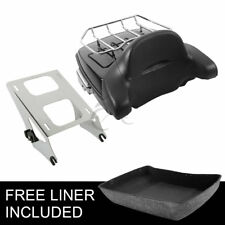 Chopped Tour Pak Pack Backrest + Two-Up Rack For Harley Road King Glide 14-19 18