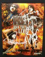 KISS PAUL STANLEY GENE SIMMONS ERIC SINGER TOMMY THAYER SIGNED ROCK T NATION DVD