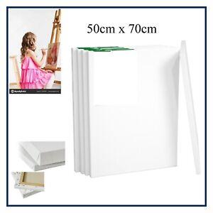 tela bianca per dipingere pittura olio acrilico tempera in cotone 50x70cm