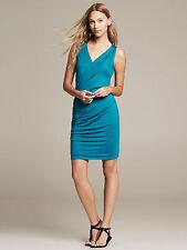Brand NEW Banana Republic Sleeveless Faux-Wrap Knit Dress Color Blue Size L