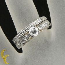 Platino & 18Ct Oro Amarillo 1.00 Quilates Diamante Set de Alianzas Tamaño 6.75