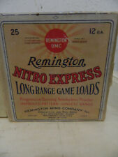 Vintage Empty 2 Piece Ammo Box Remington Nitro Express Long Range Gane Loads 12