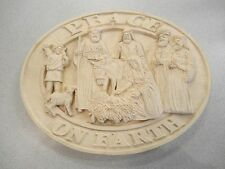 CHRISTMAS Peace on earth 3D WALL  plaque GOOSE CREEK 1994