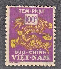 South VIETNAM 1956 used SC#J14 100pi stamp,  Postage Due Stamp.