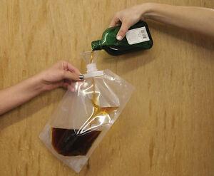 Hide Your Booze Secret Flask 3 FLASKS Liquor Alcohol Pouch Conceal Travel Cruise