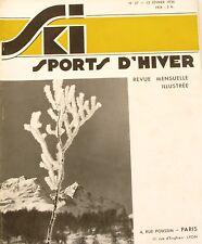 Ski Sport d'Hiver n°37 - 1936 - Sestrières - Ecoles de Ski - Pralognan