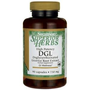 Swanson High Potency Dgl (Licorice) 750 mg 90 Capsules.