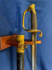 Ames Civil War Model 1850 Foot Officer Sword and Scabbard