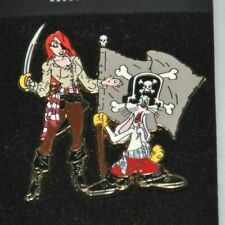 Rare Disney Pin Trading Le Le800 Jessica Rabbit Pirate Flag Lot 188 mint on card