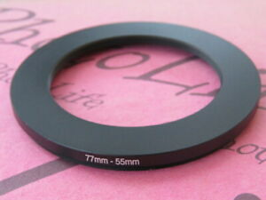 77mm to 55mm 77-55 Stepping Step Down Filter Ring Adapter 77mm-55mm