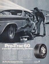 1973 DODGE CHALLENGER ~ CLASSIC ORIGINAL PRO-TRAC TIRE MUSCLE CAR AD