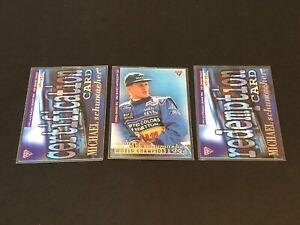 3x Futera 1995 Grand Prix Michael Schumacher Trading Card Benetton World Champ