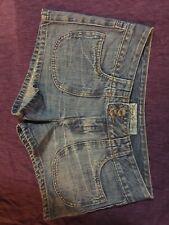 Ladies Denim Shorts - Piping Hot Denim - Size 8 - Daisy Dukes