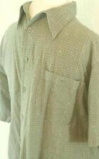 Marc Edwards Mens Shirt Size XL Green Cotton Short Sleeve Button Down w Pocket
