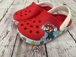 CROCS Clogs Super Mario Bros Red Sz C 7 infants/toddler Light Up Clogs