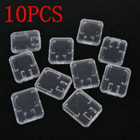10X Transparent Standard SD SDHC Memory Card Case Holder Box Storage Plastic