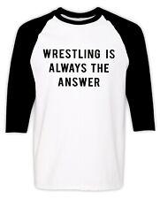 Wrestling Raglan T-shirt Funny Wrestler Professional Wrestling Lover Fan Gift