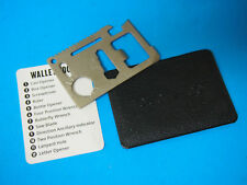 11 in 1 Multi Tool, wallet thin pocket survival credit card micro knives