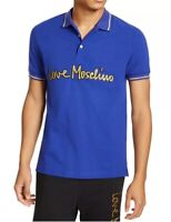Love Moschino Short Sleeve Gold Logo Script Polo T-Shirt Sz XS NWT