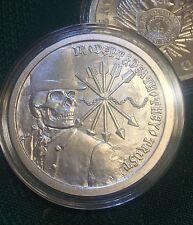 Original 1 oz 2012 DEBT and DEATH #6 BU Narrow Only 4000 Minted Silver Shield &