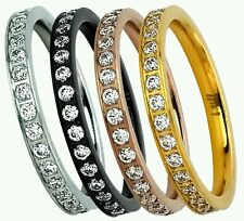 B Tiff Ring Stainless Steel Eternity Women's Ring Retails at $125