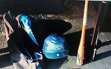 kids baseball lot (2 bats, bag, helmet)