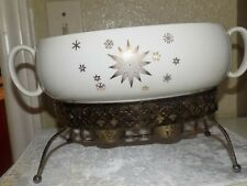 Mcm Stardrift 24k Gold Serving Dish with Warming Stand