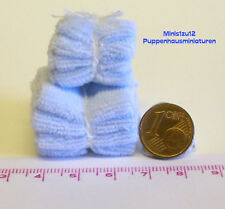 7108# Badetücher und Handtücher hellblau - Puppenhaus - Puppenstube - M 1zu12