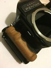 Wood-Poignée bois Pentax 67 6x7 Hand Grip-handmade Cherry Wood tint-Merisier Mat