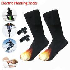 Cotton Heated Socks Sports Skiing Winter Foot Warmer Electric Heating Sock HOT