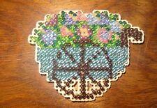 Fridge Magnet Flower Cart Beaded Handmade Glass Beads Finished Mill Hill