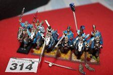 Juegos taller Warhammer Fantasy elfos alto elfo plata ley Helms Regimiento Mage Metal