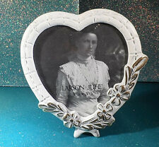 """Larson Juhl Metal Heart Shaped Victorian Style Picture Frame 3 1/2"""" x 3 1/2"""""""