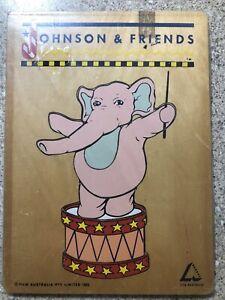 Vintage Johnson & Friends Wooden Puzzle 1993- RARE