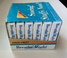 Original BREATHE RIGHT Nasal Strips Sm/Med - Case of 6 Boxes = 72 Units NOS