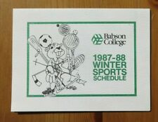 1987-88 Babson College Winter Sports Schedule