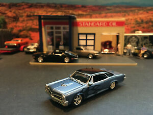 1:64 Hot Wheels Limited Edition 1966 66 Pontiac GTO Blue with Flames