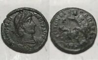 Constantius II spearing enemy horse rider battle/Rare ancient Roman coin/ANTIOCH