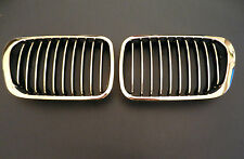 BMW 3 SERIES E46 98-01 SALOON ESTATE PAIR FRONT GRILLE CHROME GRILL KIDNEY SET