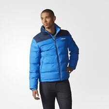 ADIDAS ORIGINALS PRAEZTIGE SYNTHETIC DOWN JACKET PUFFER MEN'S SIZE L BLUE AB7874