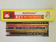20 VINTAGE PENCILS: 12-PACK OF NATARAJ 621 HB +8 APSARA ASSORTED PENCILS- UNUSED