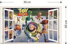 3D Window Toy Story Wall Sticker Art Removable Decals Kids Nursery Room Decor