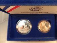 1986 Statue Of Liberty Centennial 2 Coin Set Silver Dollar Plus Clad Half