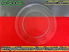 Whirlpool  Microwave Oven Glass Turntable Plate Platter 284mm  (W10) Brand New