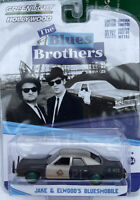 Chase BLUES BROTHERS DODGE MONACO POLICE car GREEN Wheels 1:64 GREENLIGHT 44710C