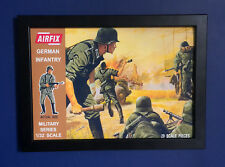 Airfix 1/32 Scale German Infantry Brown Box 1960's Framed A4 Size Poster Sign